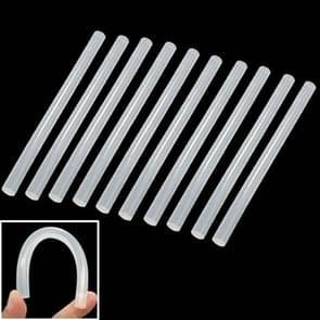 10x praktische transparante witte hot melt lijm stok  grootte: 270 x 11mm (10st in één verpakking  de prijs is voor 10st)
