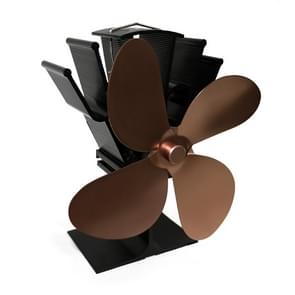 YL603 Eco-friendly Aluminum Alloy Heat Powered Stove Fan with 4 Blades for Wood / Gas / Pellet Stoves (Bronze)