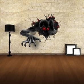 Wall Decor 3D Terror Removable Wall Stickers, Size: 68cm x 58cm