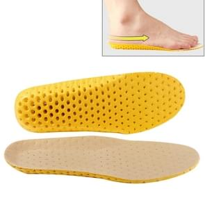 1 Pair Sports Shock Absorption Breathable Soft Thick Sweat Absorbent Insoles for Men / Women, Size: S(35-41 Yards)(Yellow)