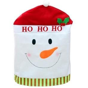 Snowman Style Christmas Decoration Chair Cover, Size: 60cm x 50cm