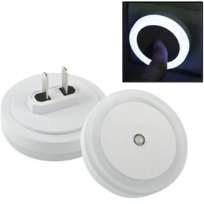 LED Light Control High Brightness Bedside Night Light with Socket(White)