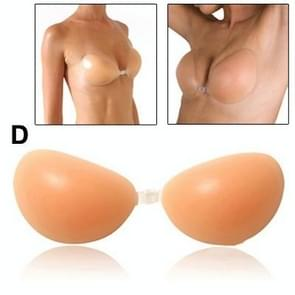 Thick Fashion High Quality Silicone Nude Bra Invisible Bra (Size: D)