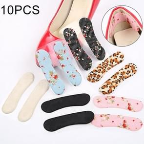 5 Pairs High-heeled Shoes Wear-resistant Rearfoot Stickers, Random Color Delivery