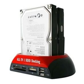 All in 1 Dual 2.5 inch/3.5 inch SATA/IDE HDD Dock Station with Card Reader & Hub