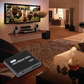 Full HD 1080P HDMI MultiMedia HDD player with SD/MMC Card & USB Slot, Support External Removable Hard Disk Storage(Black)