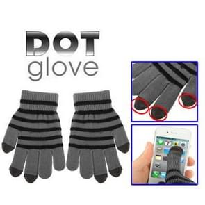 stippels Gloves of Touch Screen, Voor iPhone, Galaxy, Huawei, Xiaomi, HTC, Sony, LG en other Touch Screen Devices(grijs)