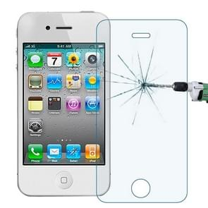 0.30mm 9H+ Surface Hardness 2.5D Explosion-proof Anti Blue-ray Tempered Glass Film for iPhone 4 / 4S