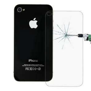 0.26mm 9H+ Surface Hardness 2.5D Explosion-proof Tempered Glass Back Screen Film for iPhone 4 / 4S