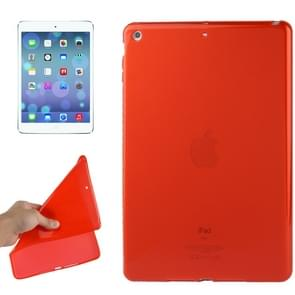Smooth Surface TPU Protective Case for iPad Air(Red)