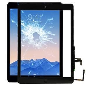 Controllerknop + Pcb-kabel met hometoetsmembranbraak + touchpanelinstallatielijm  aanraakpaneel voor iPad Air / iPad 5(Zwart)