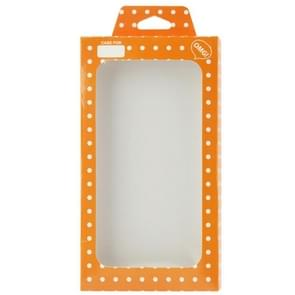 Orange and White Dots Pattern Box Packing for iPhone 4 / 4S / 5 / 5S / 5C Case, Size: 124mm x 60mm x11mm(Orange)