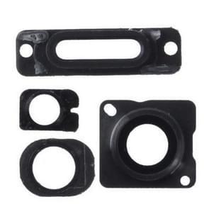 4 in 1 voor iPhone 5 (cameralens Glitter + Stand + hoofdtelefoon Jack Ring opladen) Kit(Black)