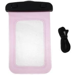 Universeel beschermend IPX8 waterdicht Tasje met draagriem voor iPhone 5 & 5S / 4 & 4S / 3GS of vergelijkbare mobiele telefoon (roze)