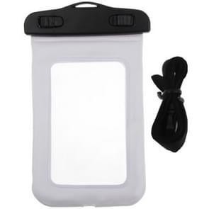Universeel beschermend IPX8 waterdicht Tasje met draagriem voor iPhone 5 & 5S / 4 & 4S / 3GS of vergelijkbare mobiele telefoon Wit