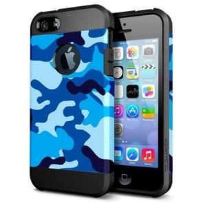 Camouflage Pattern PC+TPU Colorful Armor Hard Case for iPhone 5