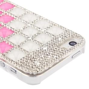 Stair-stepping Style Diamond Encrusted Crystal Case for iPhone 5 & 5s & SE (Magenta)