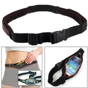 Buiten elastische taille Sporttas / twee zakken Fanny Pack Zip buidel voor iPhone 5 & 5S & 5C