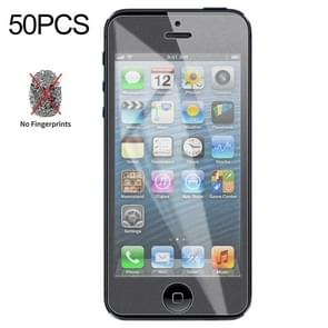 50 PCS Non-Full Matte Frosted Tempered Glass Film for iPhone 5 / 5S / 5C