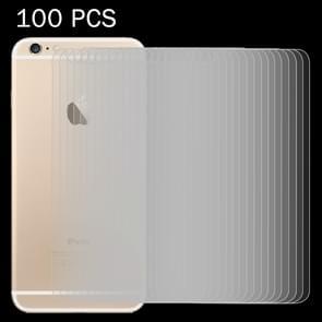 100 stuks voor iPhone 6 / 6S 0 26 mm 9H oppervlakte hardheid 2.5D explosieveilige terug getemperd glas Film