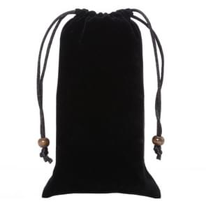 universeel Leisure Cotton Flock kleding Carry Bag met Lanyard voor iPhone 6 / 6S / Samsung Galaxy S6 / S5 / G900 / S IV / i9500 / SIII / i9300(zwart)