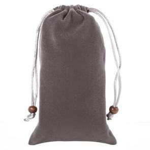 universeel Leisure Cotton Flock kleding Carry Bag met Lanyard voor iPhone 6 / 6S / Samsung Galaxy S6 / S5 / G900 / S IV / i9500 / SIII / i9300(koffie kleur)
