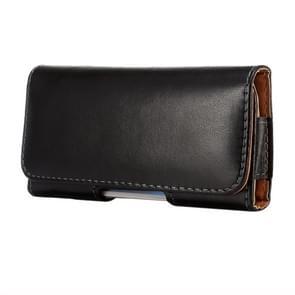horizontaal Style Lamb Skin structuur Waist Bag met Back Splint voor iPhone 6 / Samsung Galaxy S4 / S3