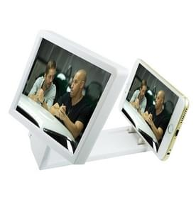 Mobile Phone 3D Video Folding Enlarged Screen Expander Stand for iPhone 6 & 6 Plus, iPhone 5, Galaxy S6 / S5 / HTC / Nokia / LG / Xiaomi Mobile Phone(White)