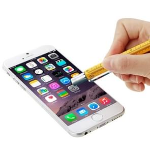 Multi-functional 6 in 1 Professional Stylus Pen, For iPhone 6 & 6 Plus, iPhone 5 & 5S & 5C, iPad Air 2 / iPad Air / iPad mini / mini with Retina Display and All Capacitive Touch Screen(Silver)