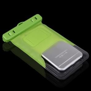 Universeel iPhone 6 & iPhone 6S / 5 / 5S / 5C waterproof transparant beschermend Hoesje / Tasje met draagriem (groen)
