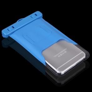 Universeel iPhone 6 & iPhone 6S / 5 / 5S / 5C waterproof transparant beschermend Hoesje / Tasje met draagriem (blauw)