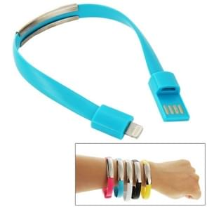 Wearable Bracelet Sync Data Charging Cable , For iPhone 6 & iPhone 5S & iPhone 5C &iPhone 5, Length: 24cm(Blue)