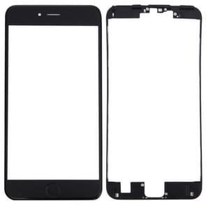 3 in 1 voor iPhone 6s plus (voor scherm buitenste glazen lens + front behuizing LCD-frame + Home-knop) (zwart)