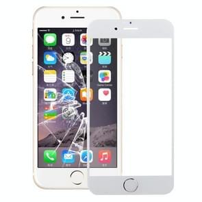 Front Screen Buitenste Glazen Lens met home-knop voor iPhone 6s Plus (Zilver)