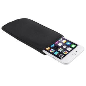Waterdichte hoes voor iPhone 6 Plus & iPhone 6S Plus / Samsung Galaxy Note 4  Afmeting: 16cm x 8.5cm(zwart)