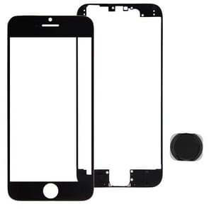 Front Screen Outer Glass Lens & Front LCD Screen bezel Frame & Home Button Kit for iPhone 6 Plus(Black)