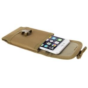 5.5 inch universele verticale nylontas stof taille voor iPhone 6 Plus & 6S Plus  Galaxy S6  Huawei  etc(Brown)