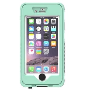 Waterproof Dustproof Shockproof Crushproof Noctilucent Protective Case with Holder for iPhone 6 & 6S(Green)