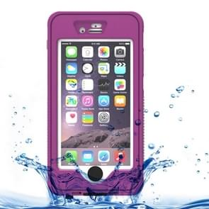 Waterproof Dustproof Shockproof Crushproof Noctilucent Protective Case with Holder for iPhone 6 & 6S(Purple)