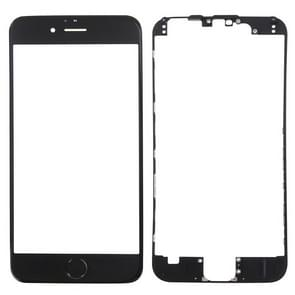 3 in 1 voor iPhone 6s (Front Screen Outer Glass Lens + Front Housing LCD Frame + Home Button)(Zwart)