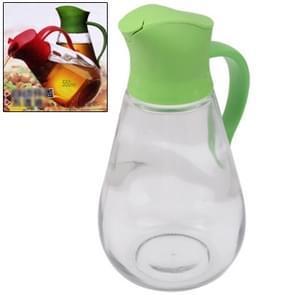 Automatic Lid Open Glass Oil Bottle(Green)