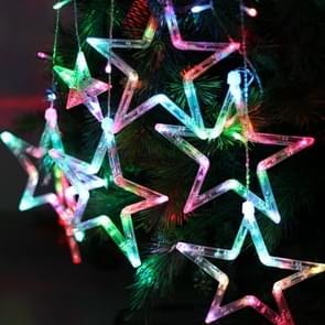 8-mode kleurrijke 10 sterren stijl licht kerst decoratieve ijspegels Strip licht  EU Plug