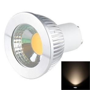 GU10 5W 475LM-Ledlamp Spotlight  1 COB LED  wit licht  6000-6500K  AC 85-265V  verzilverde deksel