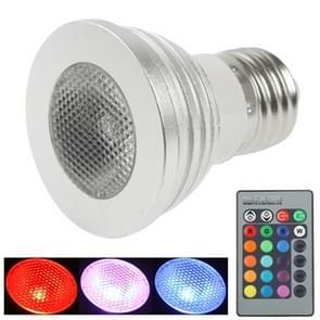 E27 3W RGB LED-spot lamp  250LM  met afstandsbediening  AC 85-250 v
