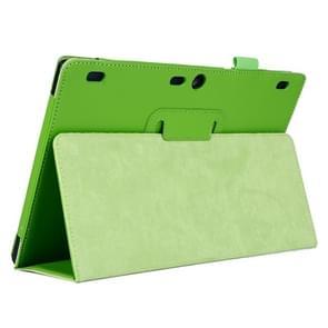 Lenovo Tab2 A10-70 horizontaal Litchi structuur PU leren Hoesje met tweevouws houder (groen)