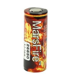 MarsFire 26650 5000mAh Rechargeable Li-ion Battery with Protected Board(Red)
