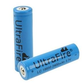 UltraFire TR 18650 2400mAh 3.7V Long Lasting Rechargeable Lithium ion Battery (2pcs in one packaging, the price is for 2pcs)(Blue)