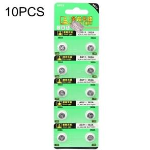 10 PCS AG11 / 362A 1.55V Alkaline Button Battery