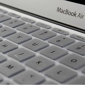 ENKAY for MacBook Air 11.6 inch (US Version) Colorful Silicon Soft Keyboard Protector Cover Skin(Silver)