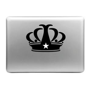 Hat-Prince Crown Pattern Removable Decorative Skin Sticker for MacBook Air / Pro / Pro with Retina Display, Size: M
